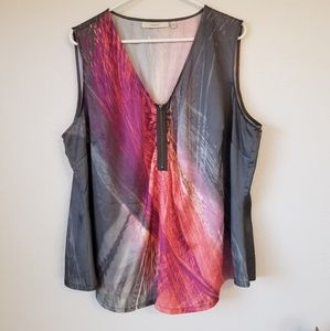 Sejour 18 Colorful Zippered Tank Top